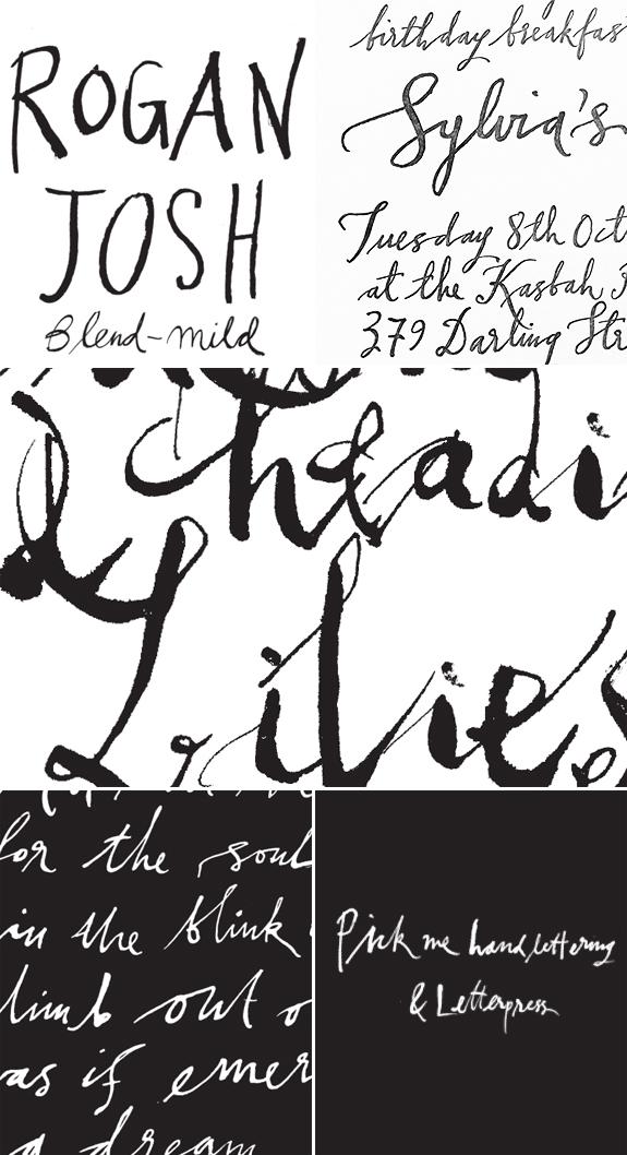 Sabine Pick Pick Me Handlettering & Letterpress Besotted Blog