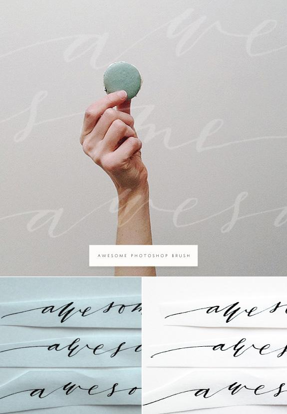 awesome hand lettered photshop brush via besotted blog