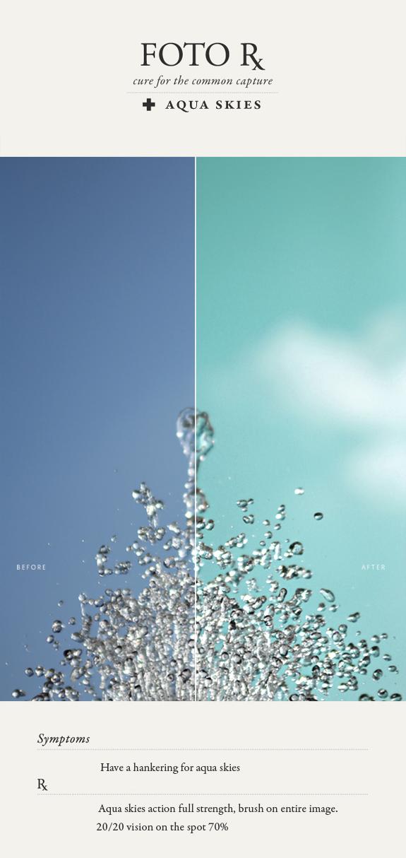 how to turn blue skies aqua via besotted blog