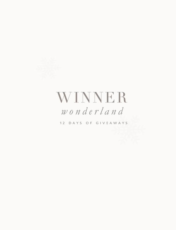 Winner Wonderland via Besotted Blog I