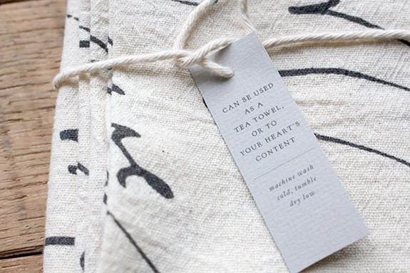Winner Wonderland | Day 06 Calligraphy fabric tea towel set