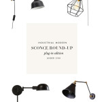Under $100 Industrial Sconce Round-up