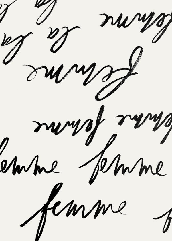 la femme lettering vis besotted