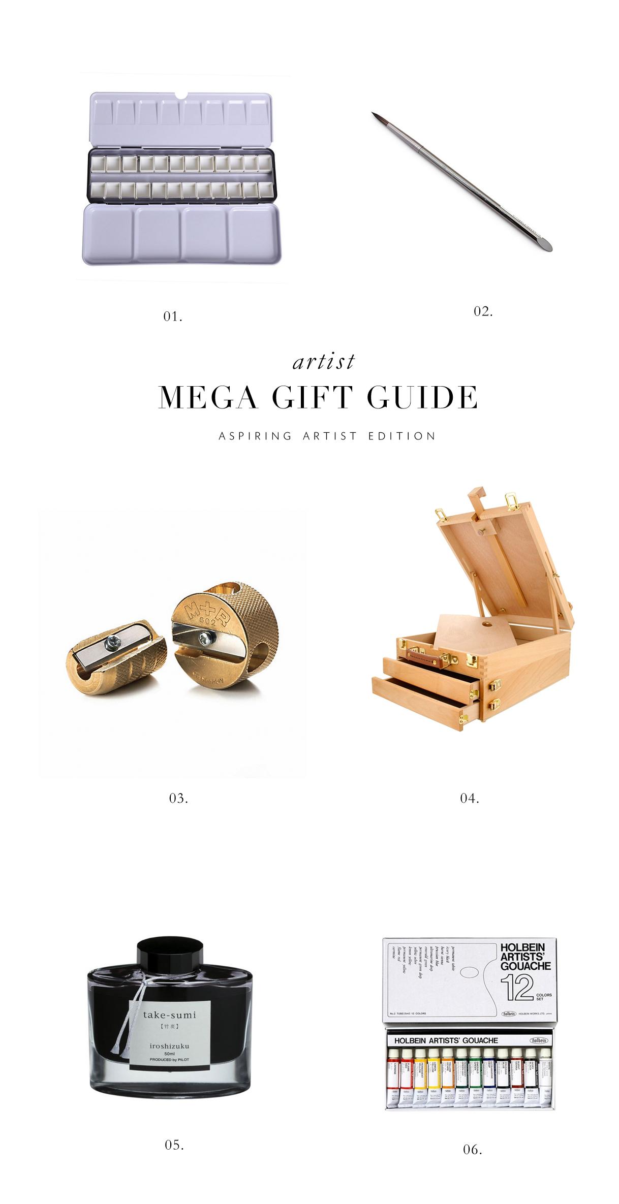 aspiring artist gift guide via besottedblog