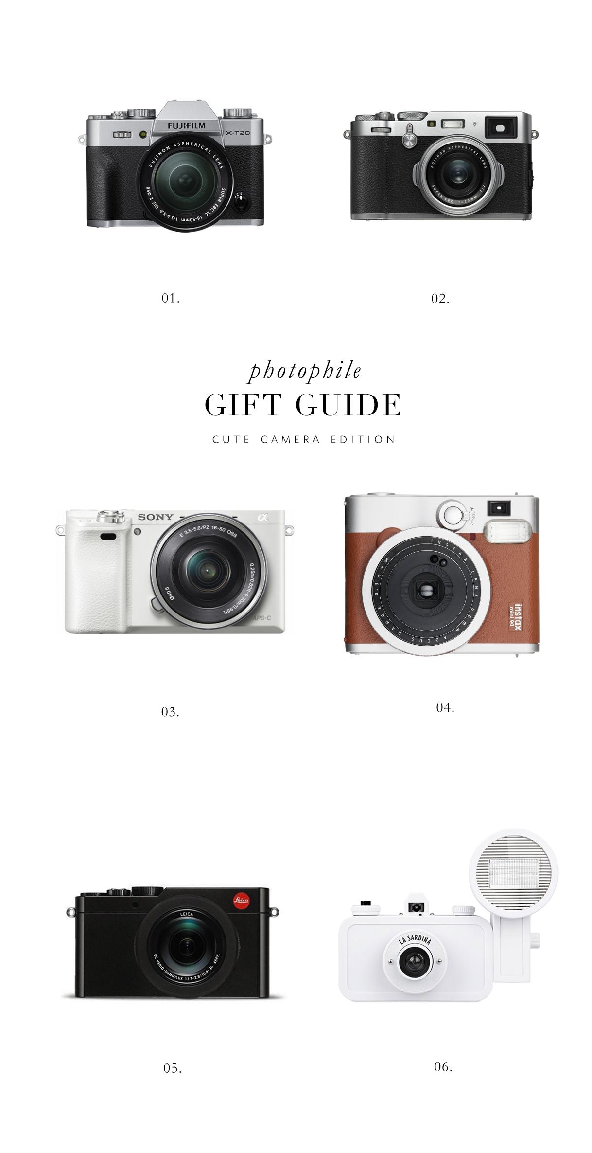 cute camera gift guide via besottedblog i